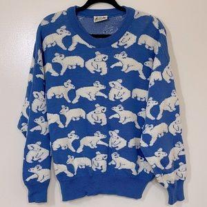 Vintage Downunder Hysport Pure New Wool Australian Koala Sweater